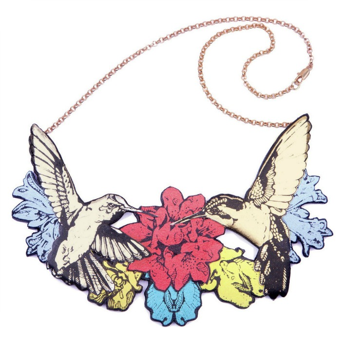 Rosita Bonita double-hummingbird-necklace