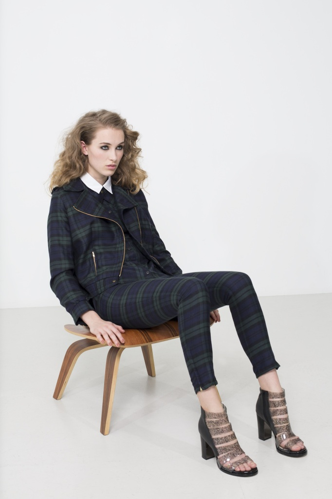 Pardon My French interview Meet the Makers tartan trouser suit New Zealand fashion