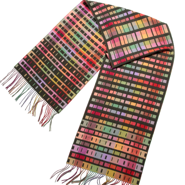 Holly Berry woven textiles scarf interview
