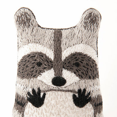 Racoon embroidery kit Kiriki Press copy